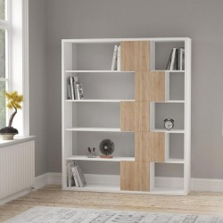An image of Cara Bookcase White and Oak