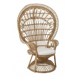 Faiza Peacock Chair, front angled view