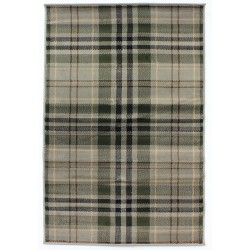 Stirling Tartan Check  Rug - Sage