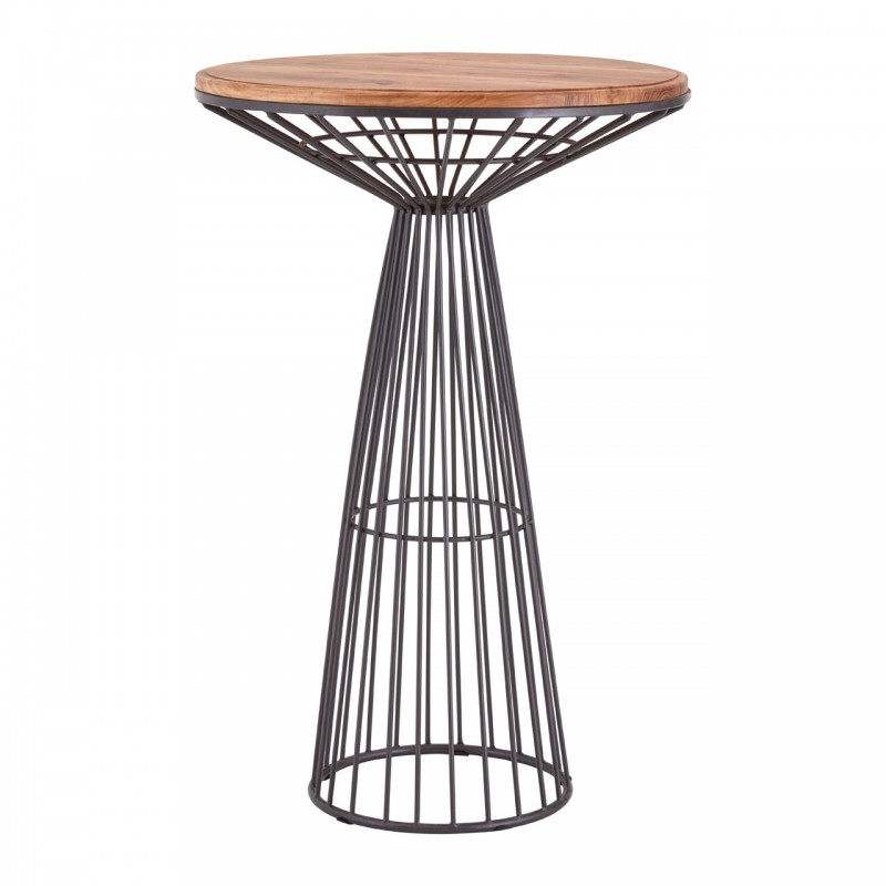 Tarun Industrial Bar Table, front view