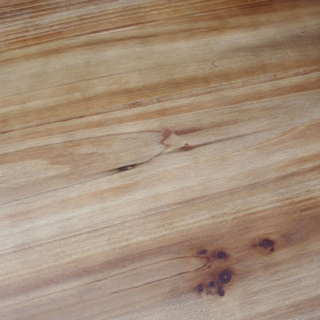 Hoxton Industrial Bar Table , close up of fir wood