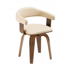 Stockwell Bentwood Chair, cream front view