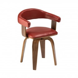 Stockwell Bentwood Chair, red, front view