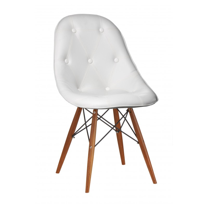 Cranford Occasional Chair, white front view