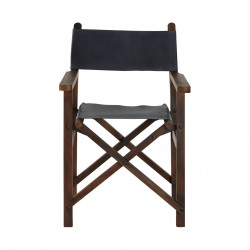 Kenley Folding Chair, blue, front view