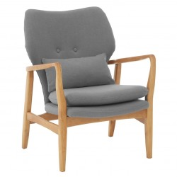 Linnea Armchair, grey, front view
