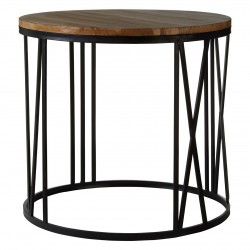Fulham Round Side Table, room setting