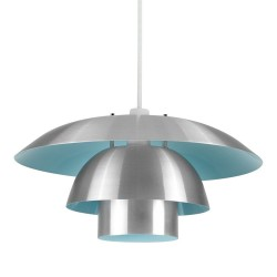 Almus Pendant Lamp Shade, duck egg blue - front view