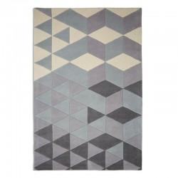 Patos Geometric Rug, purple top view