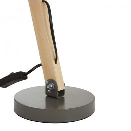 Heide Table Lamp, grey, close up of base