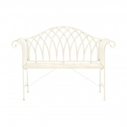 Fawley Wrought Iron Bench , front view