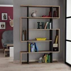 Hada Bookcase Oak and Anthracite