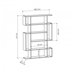Hada Bookcase Dimensions