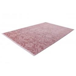 Stiege Modern Plain Rug Pink Floor Shot