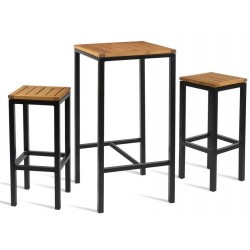 Michigan Two Person Bar Height Dining Set
