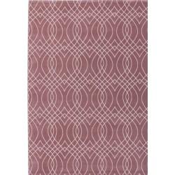 Kassel Lattice Style Rug  Pink