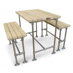 An image of Scaffold Outdoor Bar Height Dining Set