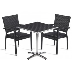 Rattan table and chair set