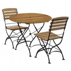 An image of Parisian Outdoor Round Folding Bistro Set