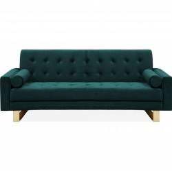 Rezzano Velvet Daybed/3 Seater Sofa Front  View Dark Teal