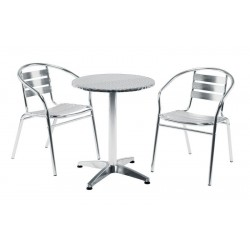 An image of Medusa Two Person Aluminium Outdoor Dining Set