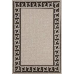 Imola Bordered Rug - Silver
