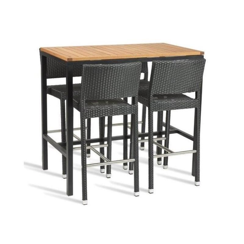 4953ce5ae933 ... Adria Garden Bar Height Table Set. Bar height table and rattan bar  stools