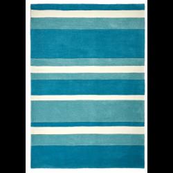 Kota Stripe Rug, blue- top view