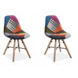 Ida Pair of Kids Patchwork Chairs