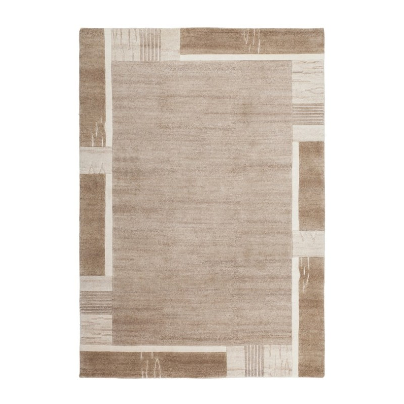 Bordered Rug Top View