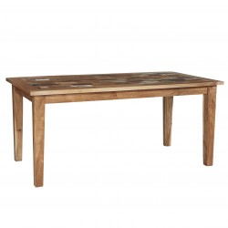Funki Coastal Large Dining Table, front view