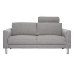 Elyria 2-Seater Sofa with Neckpillow Light Grey