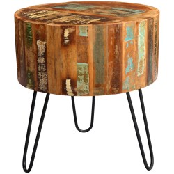 Funki Coastal Drum Side table, front view