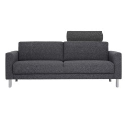 Elyria 3-Seater Sofa with neckpillow Dark Grey