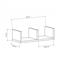 Modelo Floating Wall Shelf Dimensions