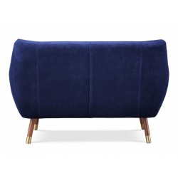 Finn Juhl inspired Poet Sofa  rear view Royal Blue