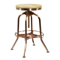Aurora Copper Stool View