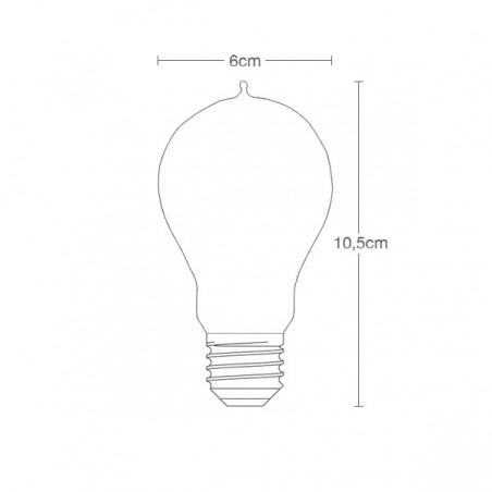 Edison Dimmable filament light bulb Dimensions