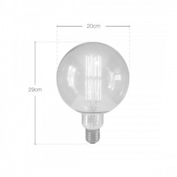 Extra Large Globe Filament Light Bulb Dimensions