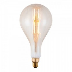 Edison Extra Large PS160 Filament Light bulb on
