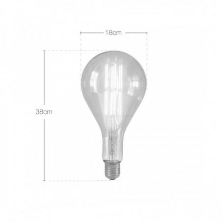 Edison Extra Large PS160 Filament Light bulb Dimensions