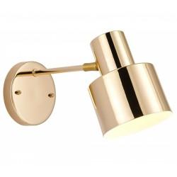 Vernon Angled Wall Lights Gold light on