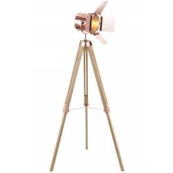 Paramount Tripod Floor Lamp Copper Natural Legs
