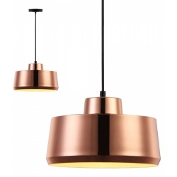 Turlock Metal Pendant Light Copper Mood Shot