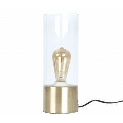Vaiden Glass Table Lamp Clear/Gold
