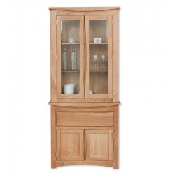 rosciano wood cabinet with glazed doors