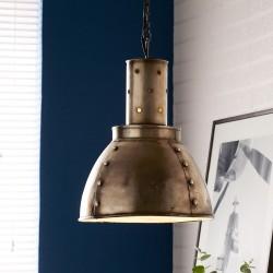 Panna Industrial Metallic Pendant Lamp, mood shot