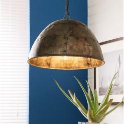 Panna Industrial Metallic Dome Pendant Lamp, mood shot