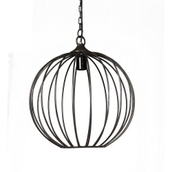 Panna Sphere Cage Hanging Lamp, white background