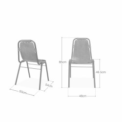 Jupiter Industrial Metal Side Chair Dimensions